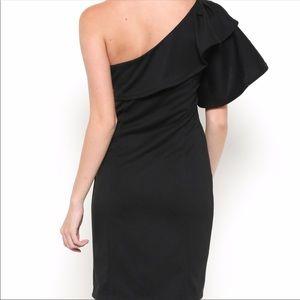 Esley Dresses - New Perfect Black Dress Off One Shoulder